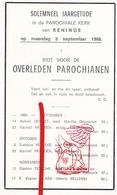DP † Parochianen Reninge Lo-Reninge 1965 - 66 / G. Gezelle - Devotieprenten