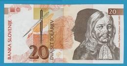 SLOVENIA 20 TOLARJEV 1992 Serial# AA013857 P# 12 - Slovenia