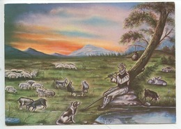 Iran : A Painting From An Iranian Sheperd (cp Vierge 2 Scan) - Iran