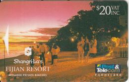 """FIJI ISL.(GPT) - Shangri-La""""s Fijian Resort/Secluded Private Beaches, CN : 05FJFJE, Tirage 10000, Used - Fiji"""