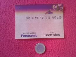 ANTIGUA PEGATINA ADHESIVO STICKER AUDIO-VIDEO PANASONIC HI-FI TECHNICS LOS SENTIDOS DEL FUTURO VER FOTO/S Y DESCRIPCIÓN - Pegatinas