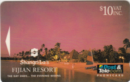 "FIJI ISL.(GPT) - Shangri-La""s Fijian Resort/The Day Ends...The Evening Begins, CN : 05FJD, Tirage 20000, Used - Fiji"