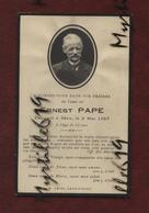 Faire-part De Décès - Landivisiau - (1927) Memento - Monsieur Ernest Pape - Obituary Notices