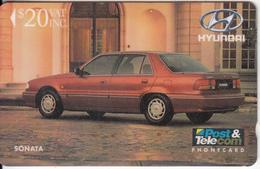 FIJI ISL.(GPT) - Martin Motor Co./Hyundai Sonata, CN : 03FJE(silver Strip), Tirage %9000, Used - Fiji
