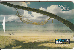 FIJI ISL.(GPT) - Hammock By The Sea, CN : 02FJC, Tirage 10000, Used - Fiji