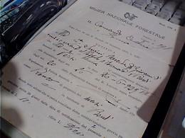 LETTERA INTESTATA-MILIZIA NAZIONALE FORESTALE COMANDO CENTURIA DI PARMA  ALCOMUNE DI BARDI 1923 C114 - Documenti Storici