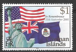 Iles Caimans 2002 -  Neuf **, MNH - Statue De La Liberté, Liberty, Drapeau, Flag - Cayman Islands