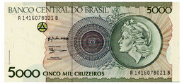 BRAZIL 5000 CRUZEIROS ND(1990) Pick 227 Unc - Brazilië
