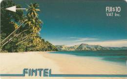 FIJI ISL.(GPT) - Palms & Beach, CN : 3CWFB(white Strip), Tirage 7500, Used - Fiji