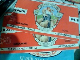2 PzFASCETTA PER GOMITOLI DI LANA LANE MASSERANO BIELLA Illustrata PASTORELLA La Preferita ALESSANDRO ZEGNA C119 - Laine