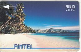 FIJI ISL.(GPT) - Palms & Beach, CN : 3CWFB(silver Strip), Tirage 600, Used - Fiji