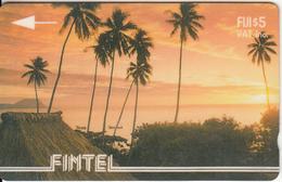 FIJI ISL.(GPT) - Palms & Sunset, CN : 3CWFA(white Strip), Tirage 4800, Used - Fiji