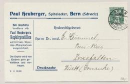 Schweiz - 1911 - 5c Tellknabe Privat Ganzsache Drucksache Paul Heuberger - Alpenmilch Reklame - Postwaardestukken