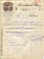 BERNHARD MÜNZ- NURNBERG-  SCHREIB-UND METALLWAREN-INDUSTRIE- JAHR 1926 - Imprenta & Papelería