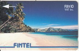 FIJI ISL.(GPT) - Palms & Beach, FINTEL Second Issue $10, CN : 2CWFB, Tirage 10000, Used - Fiji