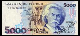 BRAZIL 5000 CRUZEIROS ND(1992) Pick 232b Unc - Brazil