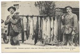 64-NAVARRENX-Saumons Capturés Le Même Jour Dans Le Gave D'Oloron Par MM. Dunouau Et Cazaux... Animé - France