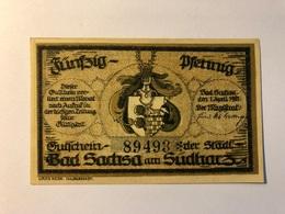 Allemagne Notgeld Sachsa 50 Pfennig - [ 3] 1918-1933 : Weimar Republic