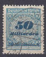 GERMANIA - ALLEMAGNE - 1923 - Yvert 325 Obliterato. - Germania