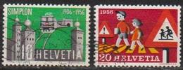 Schweiz 1956 MiNr.624 - 625    O Gest. Jahresereignisse ( 207 ) Günstige Versandkosten - Oblitérés