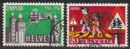Schweiz 1956 MiNr.624 - 625    O Gest. Jahresereignisse ( 3072 ) Günstige Versandkosten - Oblitérés