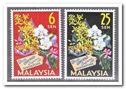 Maleisië 1963, Postfris MNH, Flowers, Orchids - Malaysia (1964-...)