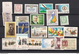 1976 MNH Finland, Year Complete According To Michel, Postfris - Finland