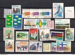 1977 MNH Finland, Year Complete According To Michel, Postfris - Finland