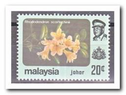 Maleisië Johor 1984, Postfris MNH, Flowers - Maleisië (1964-...)