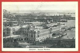 CARTOLINA VG ITALIA - GENOVA - Stazione Marittima - 9 X 14 - ANN. 1933 MOSTRA COLONIE - Genova