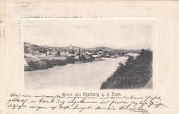 Gruss Aus MARBURG A.d. Drau (Slowenien) - Prägekarte Gel.1902 - Slowenien