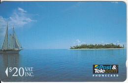 FIJI ISL.(GPT) - One Of The 300 Islands In The Sun, CN : 01FJE, Fiji Telecom First Issue $20, Tirage 9000, Mint - Fiji