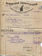 GEBRUEDER SCHOPFLOCHER-FUERTH (BAVIERE)-FABRIQUE DE BRONCE,BROCART OR ET ARGENT FAUX EN FEUILLES- JAHR 1912 - Imprimerie & Papeterie