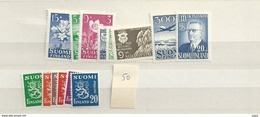 1950 MNH Finland, Year Complete According To Michel, Postfris - Finland