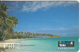 FIJI ISL.(GPT) - Beach Scene, Fiji Posts & Telecommunications First Isssue $10, CN : 01FJD, Tirage 8000, Mint - Fiji
