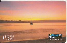 FIJI ISL.(GPT) - Sunrise, Fiji Posts & Telecommunications First Isssue $5, CN : 01FJC, Tirage 20000, Mint - Fiji