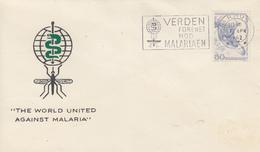 Enveloppe  DANEMARK   Eradication  Du  Paludisme  Malaria   1962 - Maladies