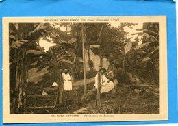 Cote D'ivoire-plantation De Bonoua--animée Carte Des Missions-années 30-édition Lescuyer - Ivory Coast