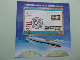 Guinée Equatoriale 1 Centenaire UPU Fusée Espace Apollo 15 La Poste - Afrika