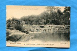 Cote D'ivoire-la Comoé En Secheresse-camion  Et Lavandières--années 30- Jean Rose - Ivory Coast