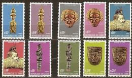 Zaire 1976 OBCn° 896-905 *** MNH  Cote 6,00 Euro Masques Maskers - Zaire