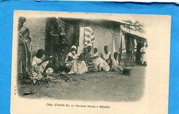 Cote D'ivoire-la Mercantis Dioulasà Aboisso-animée-années 1910-20 édition L G D - Ivory Coast