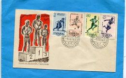 Enveloppe F D C- Juegos Atleticos -Madrid 1962-sports-4 StampsN°1121-24 Course-saut En Haies - FDC