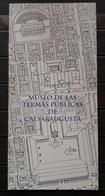 FOLLETO TURISTICO MUSEO DE LAS TERMAS PÚBLICAS DE CAESARAUGUSTA DE ZARAGOZA. - Folletos Turísticos