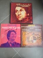 Disques Dédicacés Mouloudji Vinyles - Autographes