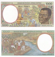 Central African St. CHAD / P - 1000 Francs 2000 (letter P) UNC Lemberg-Zp - Central African States