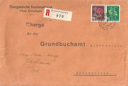 """R Brief  """"Thurgauische Kantonalbank, Kreuzlingen""""            1948 - Schweiz"""