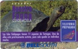 ECUADOR : BSP105C 100 GALAPAGOS Turtle   (30 Days Blue Box) USED - Equateur