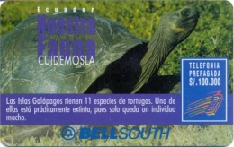 ECUADOR : BSP105E 100 GALAPAGOS Turtle   (45 Days) USED - Equateur