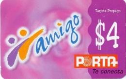ECUADOR : POP087B $4 Amigo Violet / Printed By : CARVAJAL SA USED - Ecuador